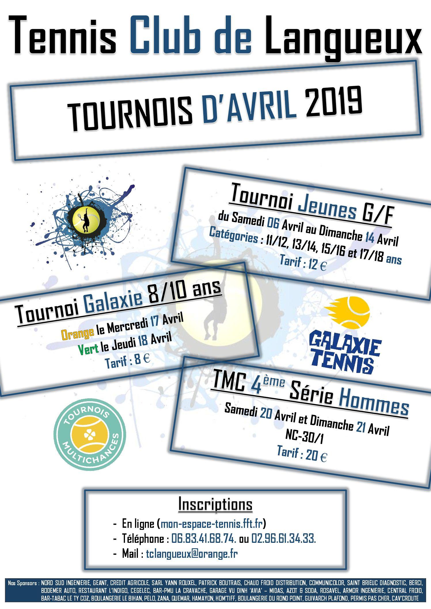 Tournois Avril 2019